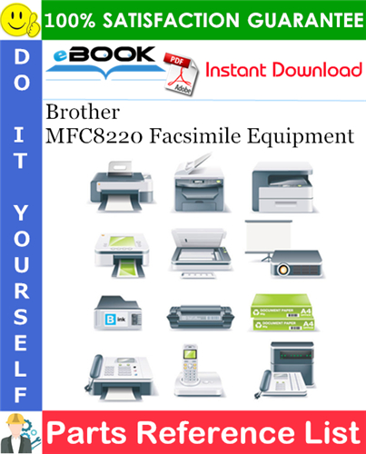 Thumbnail ☆☆ Best ☆☆ Brother MFC8220 Facsimile Equipment Parts Reference List