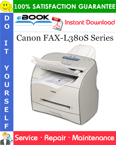 Thumbnail ☆☆ Best ☆☆ Canon FAX-L380S Series Service Repair Manual
