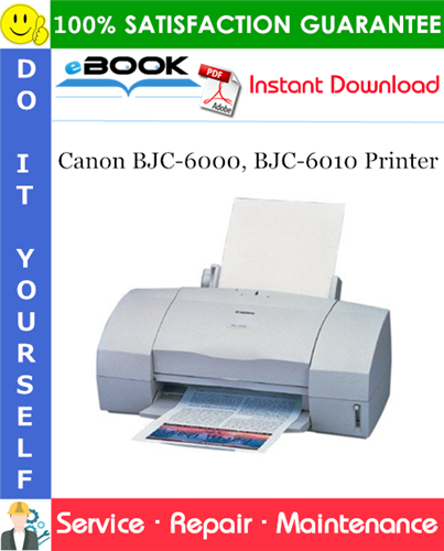 Thumbnail ☆☆ Best ☆☆ Canon BJC-6000, BJC-6010 Printer Service Repair Manual