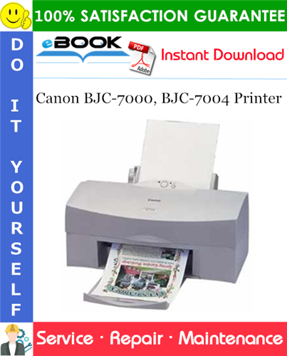 Thumbnail ☆☆ Best ☆☆ Canon BJC-7000, BJC-7004 Printer Service Repair Manual