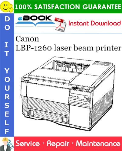 Thumbnail ☆☆ Best ☆☆ Canon LBP-1260 laser beam printer Service Repair Manual