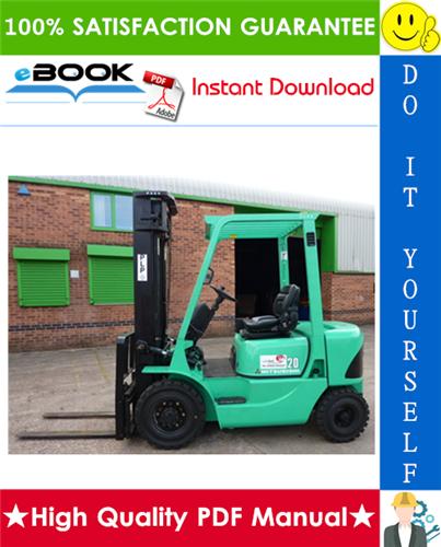 Thumbnail ☆☆ Best ☆☆ Mitsubishi FD20K AC, FD25K AC, FD30K AC, FD35K AC Forklift Trucks Service Repair Manual