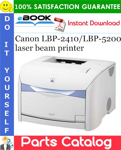 Thumbnail ☆☆ Best ☆☆ Canon LBP-2410/LBP-5200 laser beam printer Parts Catalog Manual