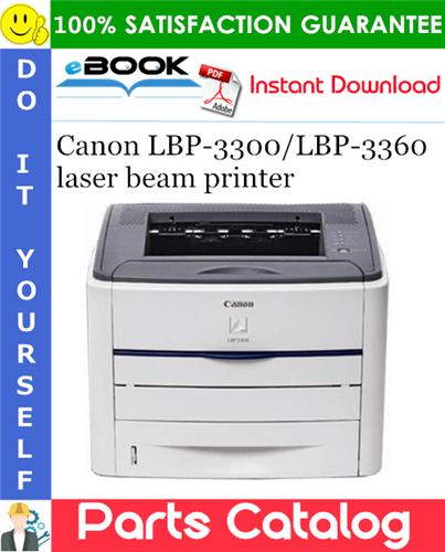 Thumbnail ☆☆ Best ☆☆ Canon LBP-3300/LBP-3360 laser beam printer Parts Catalog Manual