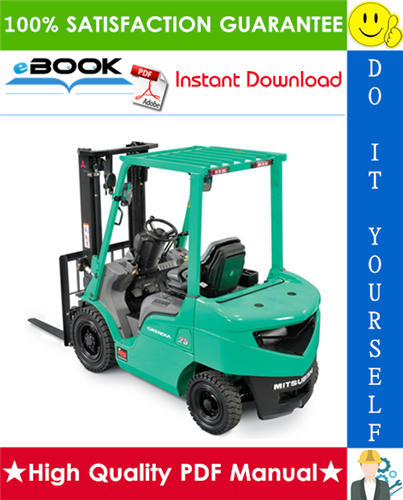 Thumbnail ☆☆ Best ☆☆ Mitsubishi FD10, FD14, FD15, FD18, FD20, FD25, FD30, FD35A Forklift Trucks Service Repair Manual