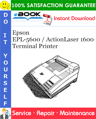 Thumbnail ☆☆ Best ☆☆ Epson EPL-5600 / ActionLaser 1600 Terminal Printer Service Repair Manual