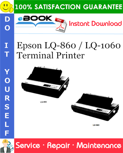 Thumbnail ☆☆ Best ☆☆ Epson LQ-860 / LQ-1060 Terminal Printer Service Repair Manual