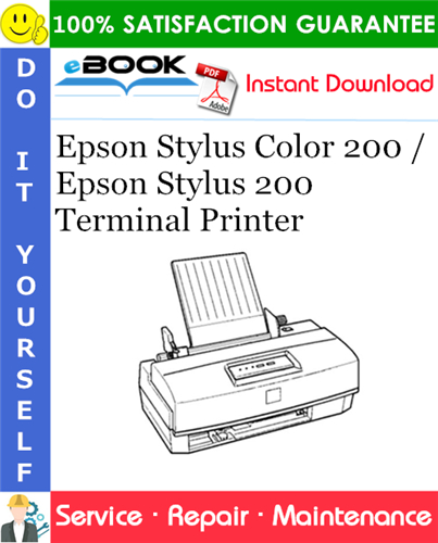 Thumbnail ☆☆ Best ☆☆ Epson Stylus Color 200 / Epson Stylus 200 Terminal Printer Service Repair Manual