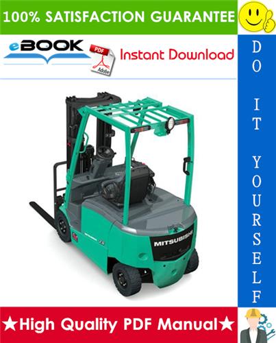 Thumbnail ☆☆ Best ☆☆ Mitsubishi FB10KRT, FB12KRT, FB15KRT Forklift Trucks Chassis, Mast and Options Service Repair Manual
