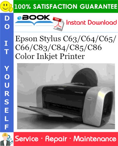 Thumbnail ☆☆ Best ☆☆ Epson Stylus C63/C64/C65/C66/C83/C84/C85/C86 Color Inkjet Printer Service Repair Manual