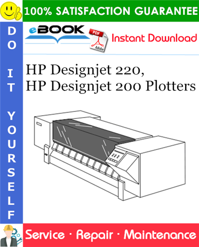Thumbnail ☆☆ Best ☆☆ HP Designjet 220, HP Designjet 200 Plotters Service Repair Manual