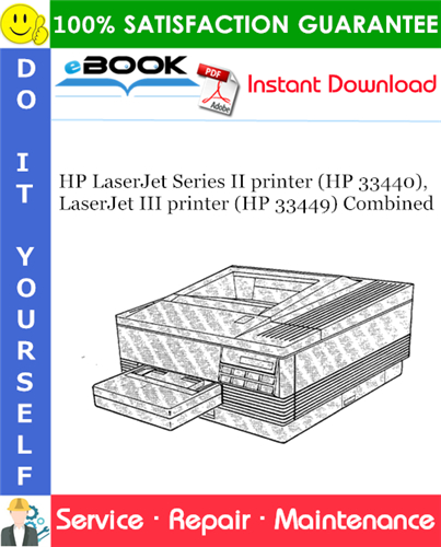 Thumbnail ☆☆ Best ☆☆ HP LaserJet Series II printer (HP 33440), LaserJet III printer (HP 33449) Combined Service Repair Manual