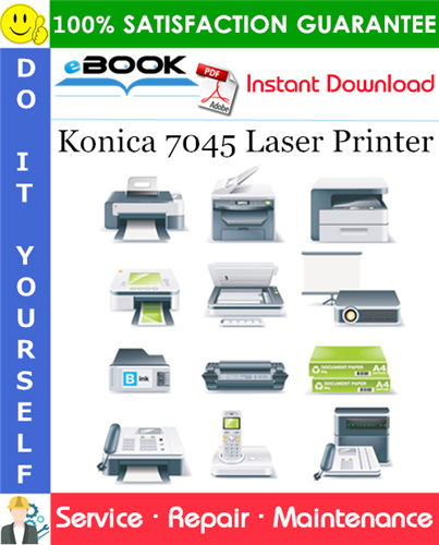 Thumbnail ☆☆ Best ☆☆ Konica 7045 Laser Printer Service Repair Manual + Parts Catalog