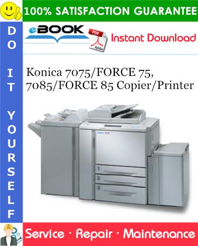 Thumbnail ☆☆ Best ☆☆ Konica 7075/FORCE 75, 7085/FORCE 85 Copier/Printer Service Repair Manual