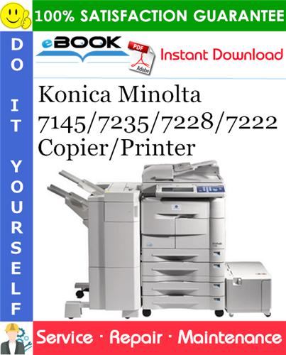 Thumbnail ☆☆ Best ☆☆ Konica Minolta 7145/7235/7228/7222 Copier/Printer Service Repair Manual