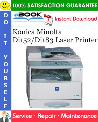 Thumbnail ☆☆ Best ☆☆ Konica Minolta Di152/Di183 Laser Printer Service Repair Manual + Parts Catalog
