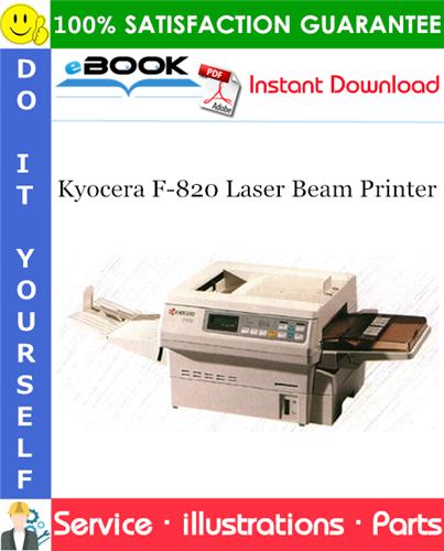 Thumbnail ☆☆ Best ☆☆ Kyocera F-820 Laser Beam Printer Parts Catalogue Manual