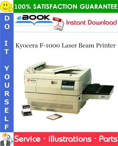 Thumbnail ☆☆ Best ☆☆ Kyocera F-1000 Laser Beam Printer Parts Catalogue Manual