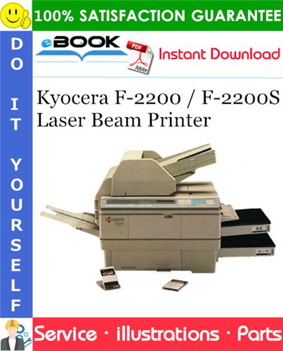 Thumbnail ☆☆ Best ☆☆ Kyocera F-2200 / F-2200S Laser Beam Printer Parts Catalogue Manual