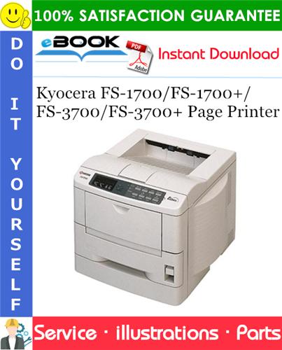 Thumbnail ☆☆ Best ☆☆ Kyocera FS-1700/FS-1700+/FS-3700/FS-3700+ Page Printer Parts Catalogue Manual