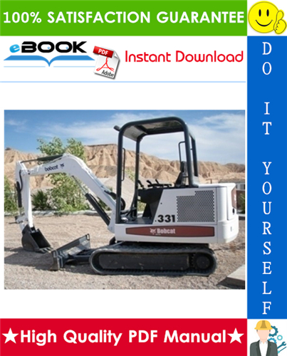Thumbnail ☆☆ Best ☆☆ Bobcat X331 Excavator Operation & Maintenance Manual