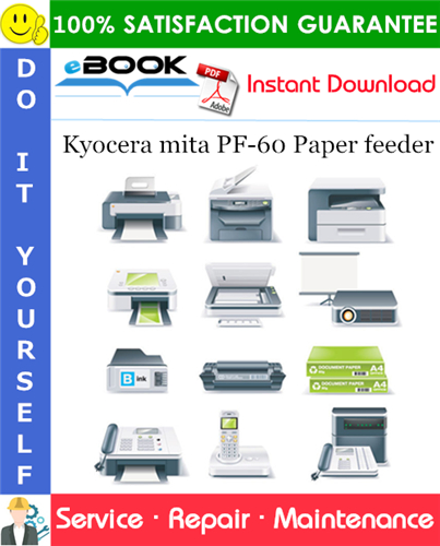 Thumbnail ☆☆ Best ☆☆ Kyocera mita PF-60 Paper feeder Service Repair Manual + Parts Catalog