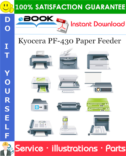 Thumbnail ☆☆ Best ☆☆ Kyocera PF-430 Paper Feeder Parts Manual