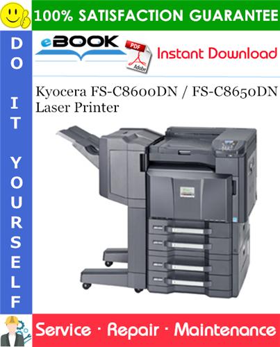 Thumbnail ☆☆ Best ☆☆ Kyocera FS-C8600DN / FS-C8650DN Laser Printer Service Repair Manual