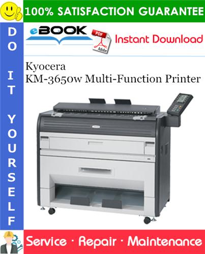 Thumbnail ☆☆ Best ☆☆ Kyocera KM-3650w Multi-Function Printer Service Repair Manual + Parts Catalog