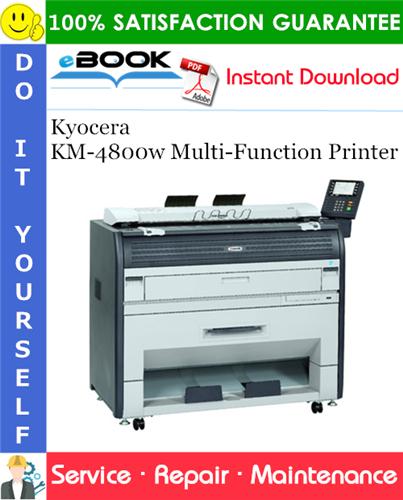 Thumbnail ☆☆ Best ☆☆ Kyocera KM-4800w Multi-Function Printer Service Repair Manual + Parts Catalog