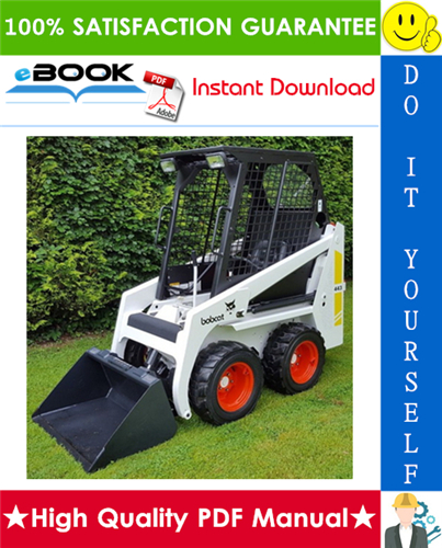 Thumbnail ☆☆ Best ☆☆ Bobcat 443 Skid Steer Loader Operation & Maintenance Manual