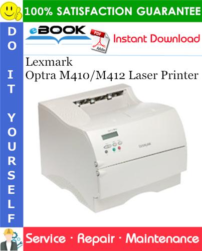 Thumbnail ☆☆ Best ☆☆ Lexmark Optra M410/M412 Laser Printer Service Repair Manual