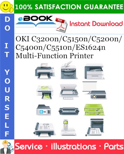 Thumbnail ☆☆ Best ☆☆ OKI C3200n/C5150n/C5200n/C5400n/C5510n/ES1624n Multi-Function Printer Spare Parts & Illustration Manual