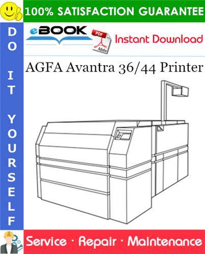 Thumbnail ☆☆ Best ☆☆ AGFA Avantra 36/44 Printer Service Repair Manual