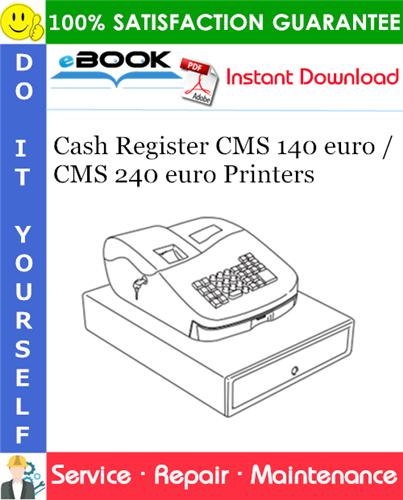 Thumbnail ☆☆ Best ☆☆ Cash Register CMS 140 euro / CMS 240 euro Printers Service Repair Manual