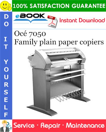 Thumbnail ☆☆ Best ☆☆ Océ 7050 Family plain paper copiers Service Repair Manual