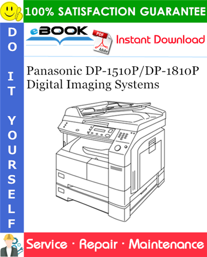 Thumbnail ☆☆ Best ☆☆ Panasonic DP-1510P/DP-1810P Digital Imaging Systems Service Repair Manual