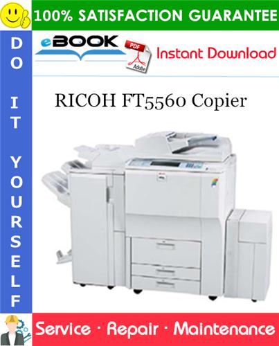 Thumbnail ☆☆ Best ☆☆ RICOH FT5560 Copier Service Repair Manual + Parts Catalog