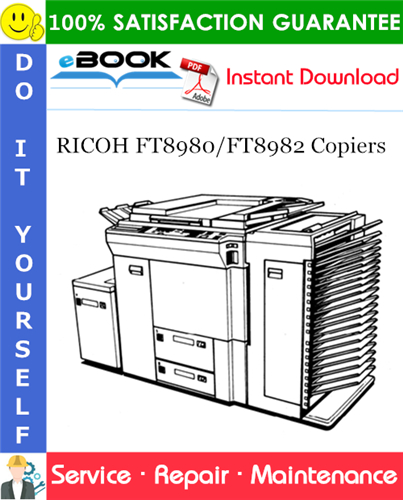 Thumbnail ☆☆ Best ☆☆ RICOH FT8980/FT8982 Copiers Service Repair Manual + Parts Catalog