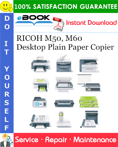 Thumbnail ☆☆ Best ☆☆ RICOH M50, M60 Desktop Plain Paper Copier Service Repair Manual + Parts Catalog