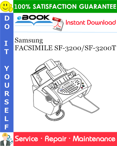 Thumbnail ☆☆ Best ☆☆ Samsung FACSIMILE SF-3200/SF-3200T Service Repair Manual