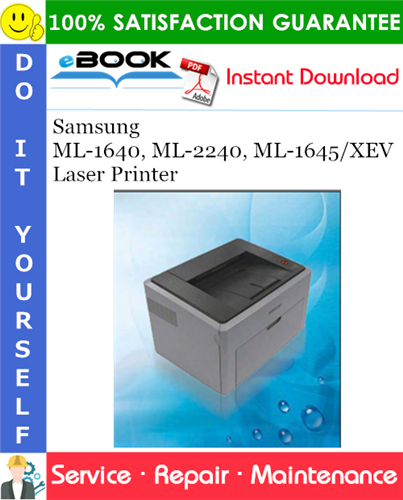 Thumbnail ☆☆ Best ☆☆ Samsung ML-1640, ML-2240, ML-1645/XEV Laser Printer Service Repair Manual