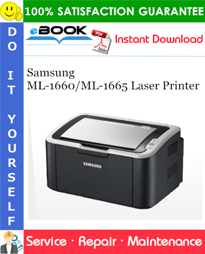 Thumbnail ☆☆ Best ☆☆ Samsung ML-1660/ML-1665 Laser Printer Service Repair Manual + Parts Catalog