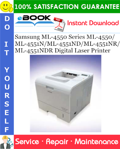 Thumbnail ☆☆ Best ☆☆ Samsung ML-4550 Series ML-4550/ML-4551N/ML-4551ND/ML-4551NR/ML-4551NDR Digital Laser Printer Service Repair Manual