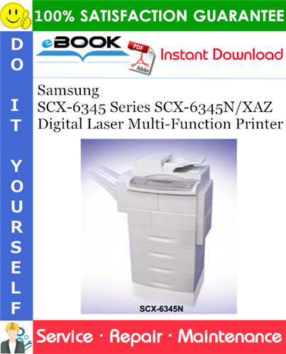 Thumbnail ☆☆ Best ☆☆ Samsung SCX-6345 Series SCX-6345N/XAZ Digital Laser Multi-Function Printer Service Repair Manual