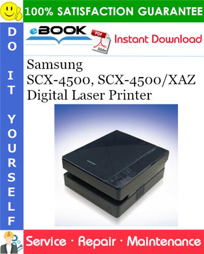Thumbnail ☆☆ Best ☆☆ Samsung SCX-4500, SCX-4500/XAZ Digital Laser Printer Service Repair Manual