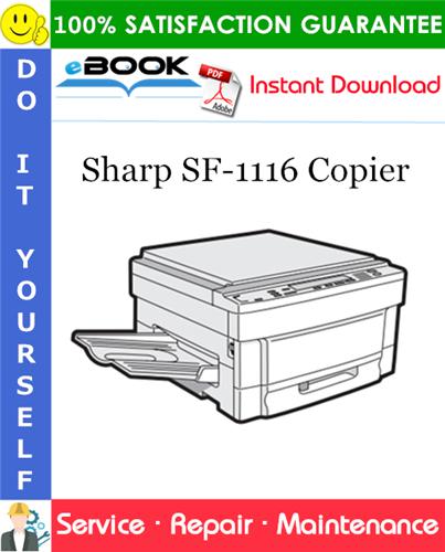 Thumbnail ☆☆ Best ☆☆ Sharp SF-1116 Copier Service Repair Manual