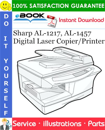 Thumbnail ☆☆ Best ☆☆ Sharp AL-1217, AL-1457 Digital Laser Copier/Printer Parts Manual