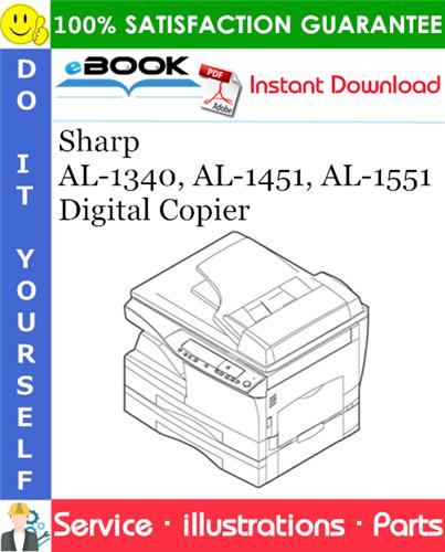 Thumbnail ☆☆ Best ☆☆ Sharp AL-1340, AL-1451, AL-1551 Digital Copier Parts Manual