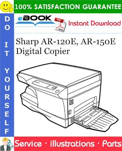 Thumbnail ☆☆ Best ☆☆ Sharp AR-120E, AR-150E Digital Copier Parts Manual